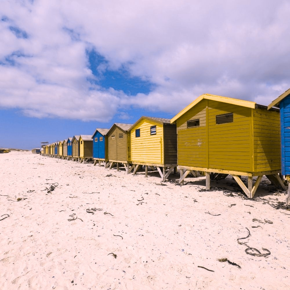 Beach Huts Green Blind Deuteranopia