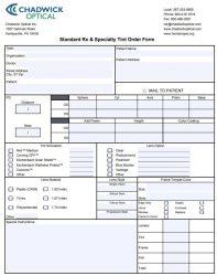 Standard Order Form